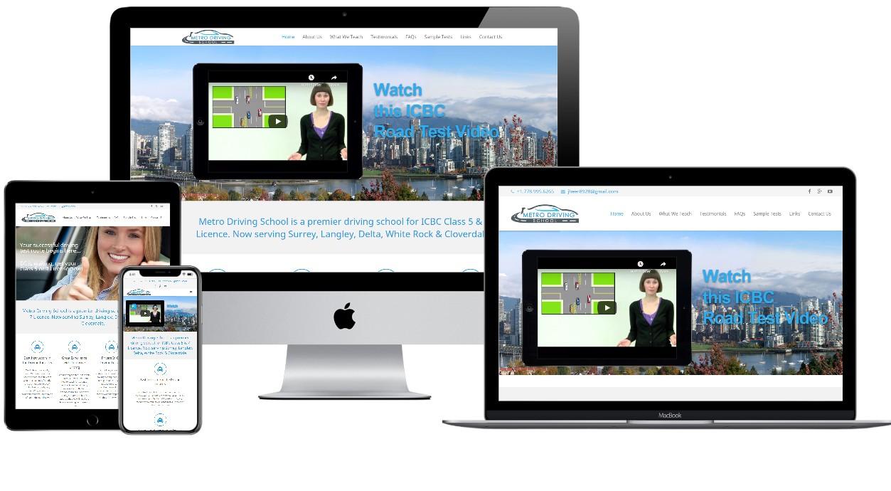 Driving School Website Design – metrodrivingschool.ca