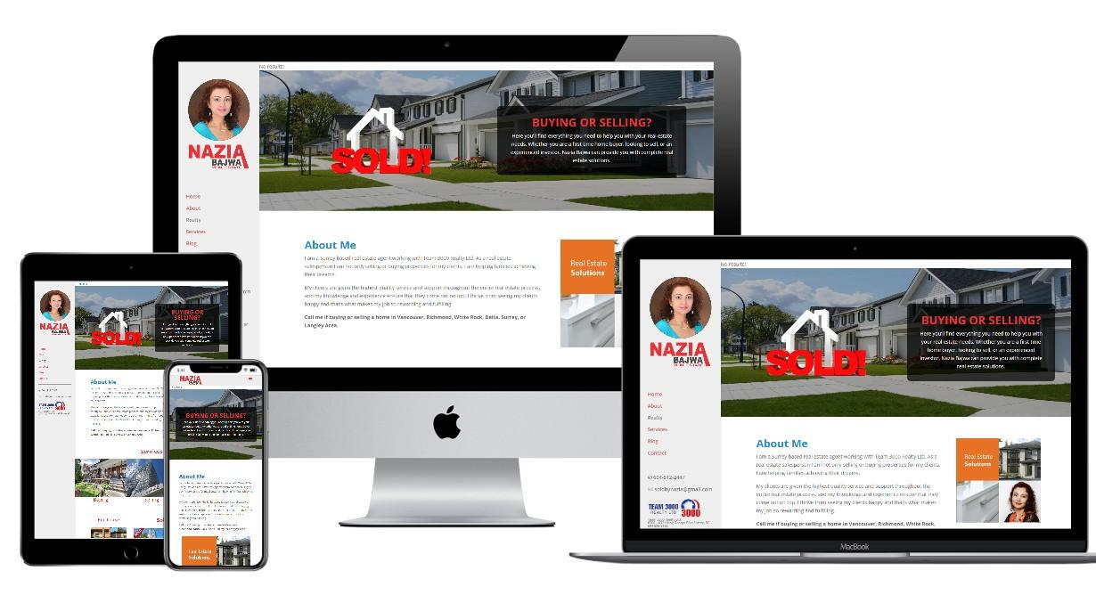 Real Estate Website Design – naziabajwa.com