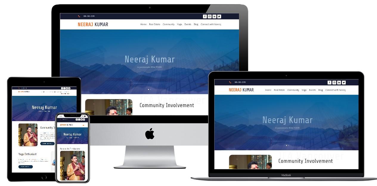 Real Estate Website Design – neerajkumar.net