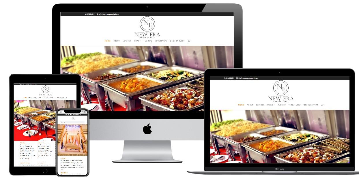 Banquet Hall Website Design – newerabanquethall.com