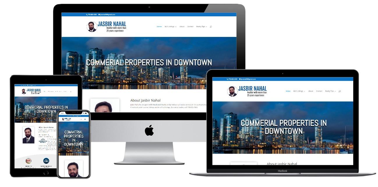 Real Estate Website Design – realtorjasbirnahal.ca
