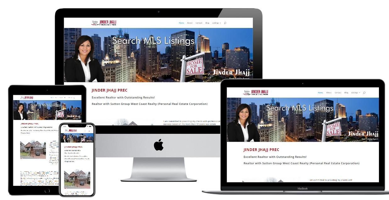 Real Estate Website Design – realtorjinderjhajj.ca
