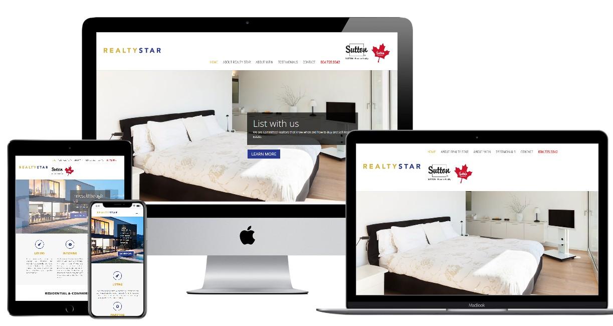 Real Estate Website Design – realtystar.ca