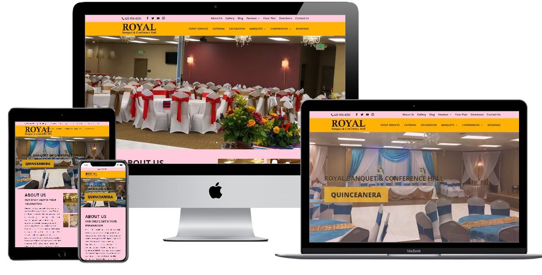 Banquet Hall Website Design – royalbanquetandconferencehall.com