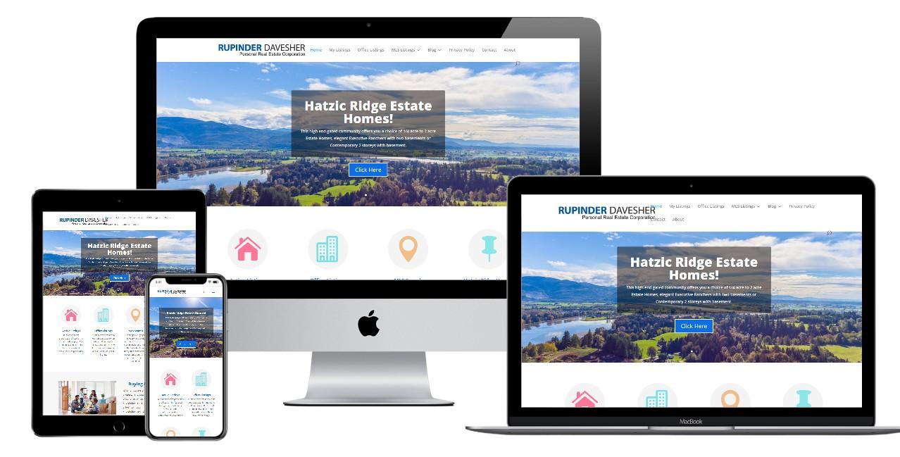 Real Estate Website Design – rupinderdavesher.com