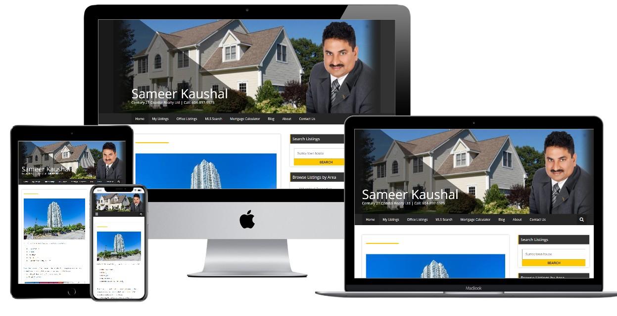 Real Estate Website Design – sameerkaushal.com