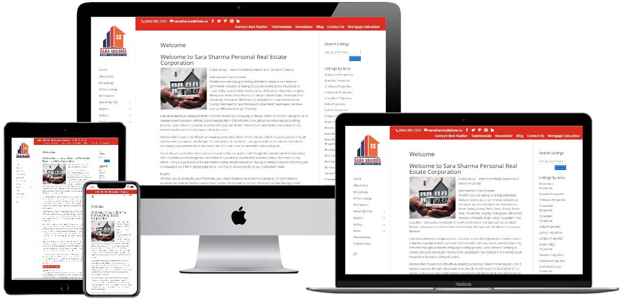 Real Estate Website Design – sarasharma.com