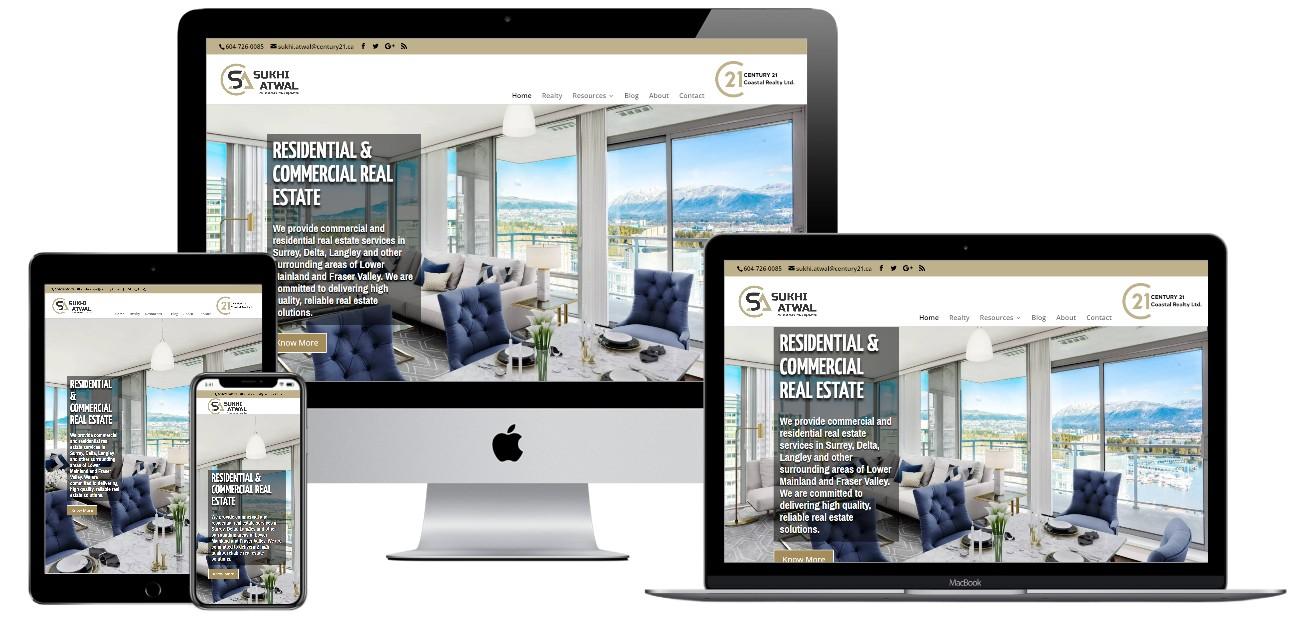 Real Estate Website Design – sukhiatwal.ca