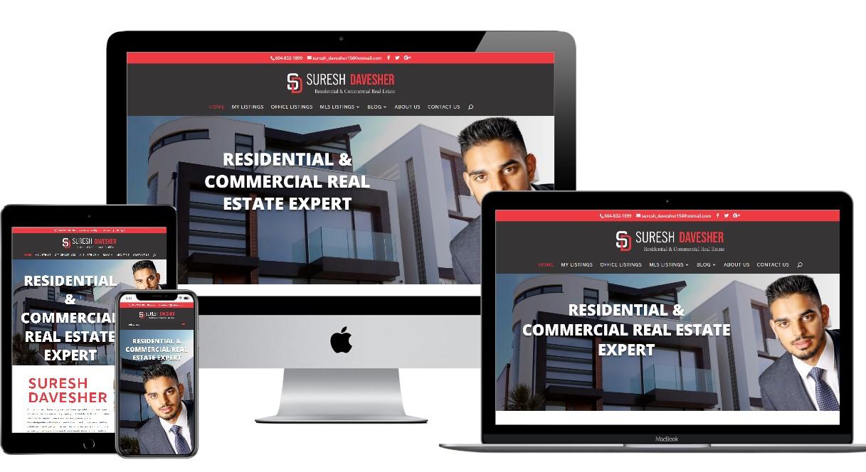 Real Estate Website Design – sureshdavesher.ca