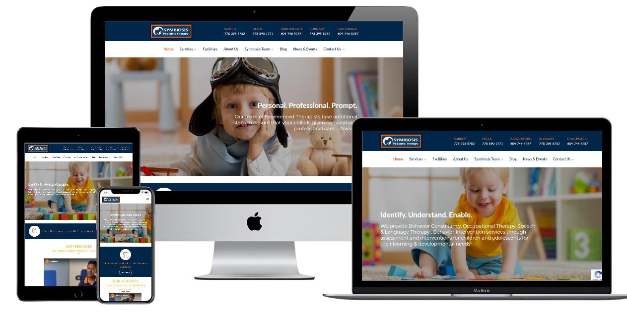 Pediatric Website Design – symbiosispediatrictherapy.com