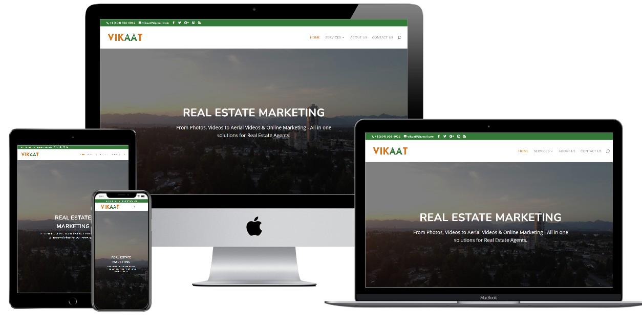 Real Estate Marketing Website Design – vikaat.ca